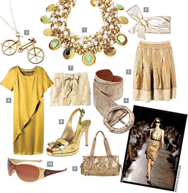 Image result for accessories with golden dress